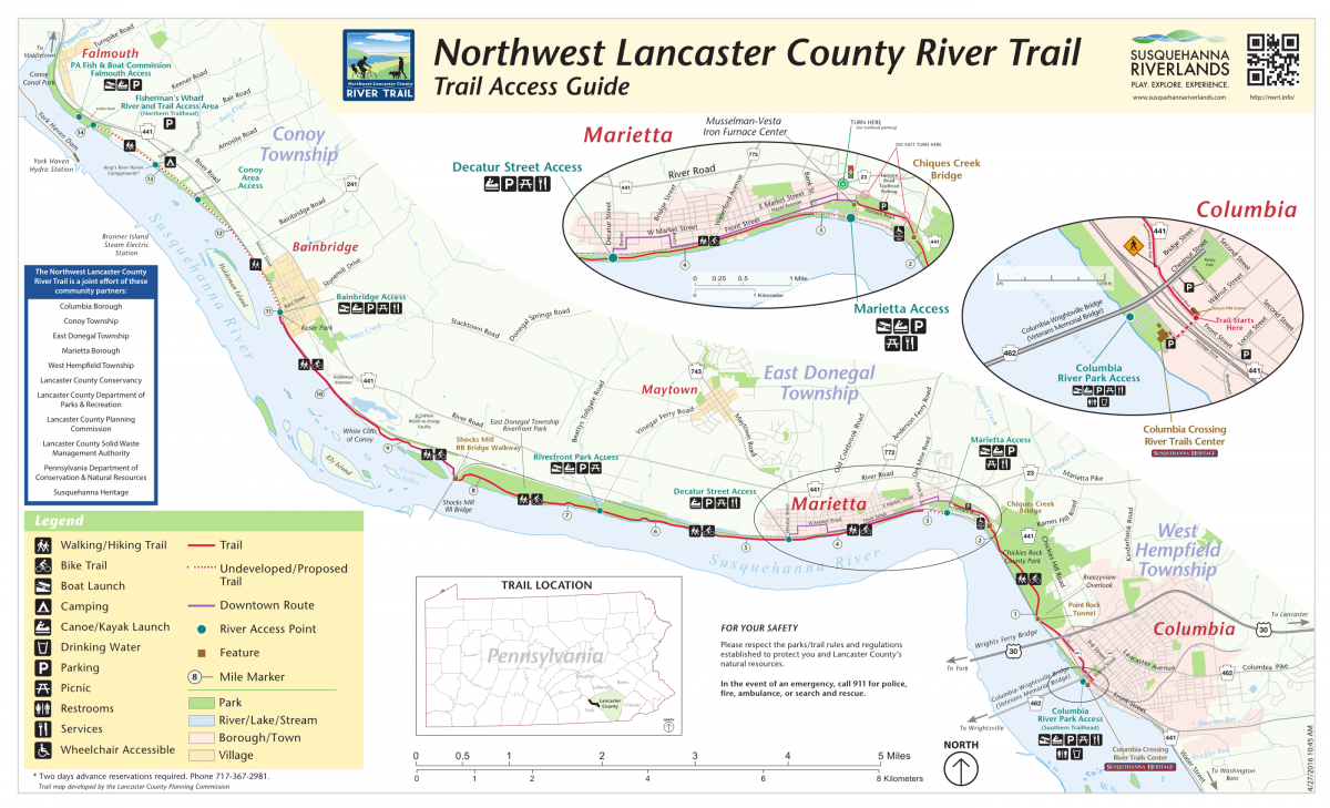 Lancaster NorthWest River Trail | Marietta, PA on map of eastern pa, mapquest lancaster pa, map of pa lititz borough, map of berks county pa, map of reno county ks, map of mount joy pa, map of arendtsville pa, map of schuylkill river pa, map of lehigh county pa, map of harford county md, map of reading pa, map of bowmansville pa, map of pennsylvania, map of bucks county pa, map of montgomery county pa, map of strasburg pa, map of franklin county pa, map of lebanon county pa, tourist map lancaster pa, map of cumberland county pa,